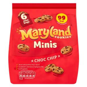 Maryland mini Cookies choc chip, 6 balení