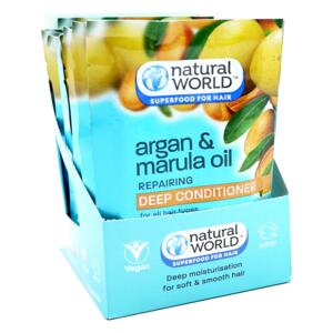 NATURAL WORLD hair superfood, Marula a Argan, 50ml