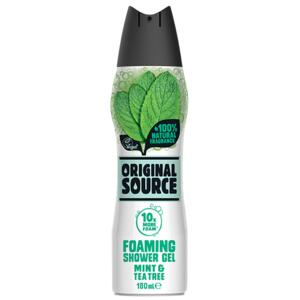 ORIGINAL SOURCE Pěnivý sprchový gel s mátou a Tea Tree 180ml