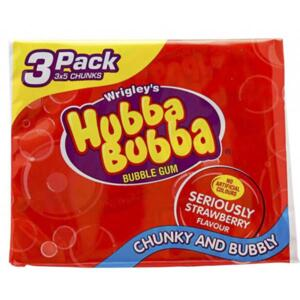 HUBBA BUBBA Strawberry žvýkačky 3ks