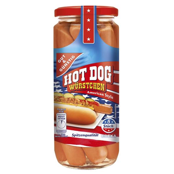 GG Hot Dog, americký styl 665g, 8ks